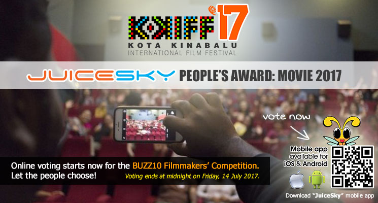 Online voting starts now for the BUZZ10 Filmmakers' Competition